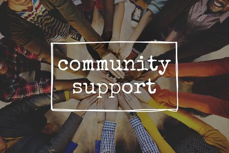 community support: Community Support Diversity Society People Concept