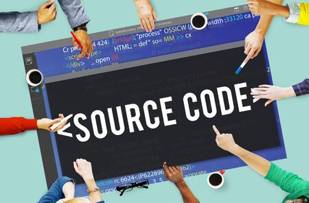 javascript: Source Code Data Javascript Computer Language Concept Stock Photo