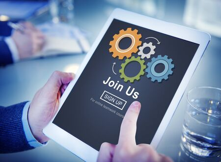 find us: Join Us Recruitment Employment Hiring Concept