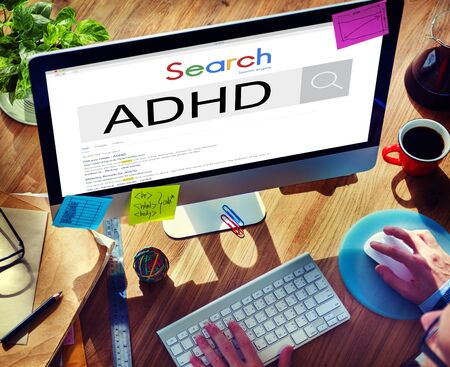 span: Attention Deficit Disorder Hyperactivity Concept Stock Photo
