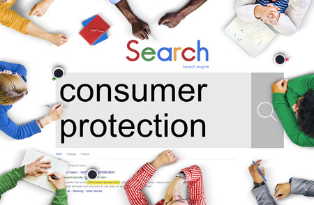consumer: Consumer Protection Legal Rights Regulations Concept Stock Photo