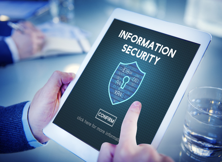 security technology: Information Security Online Privacy Protection Concept
