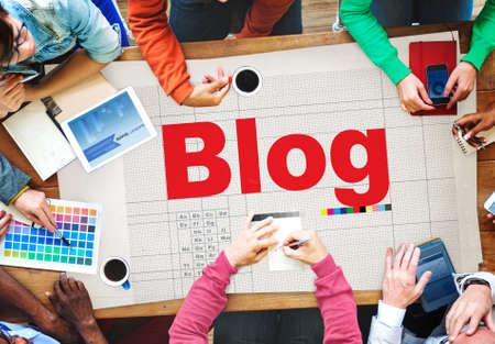 multi story: Blog Blogging Homepage Social Media Network Concept