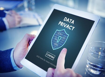 protection concept: Data Privacy Online Security Protection Concept