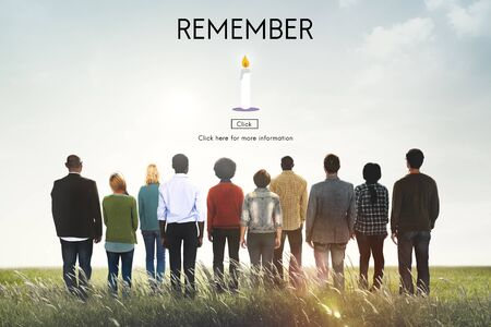 recognize: Remember Candle Recognize Pray Concept