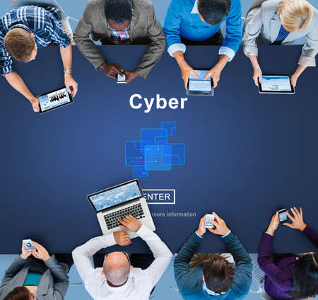 Cyber Cyberspace Connection Globalization Technology Concept Stock Photo