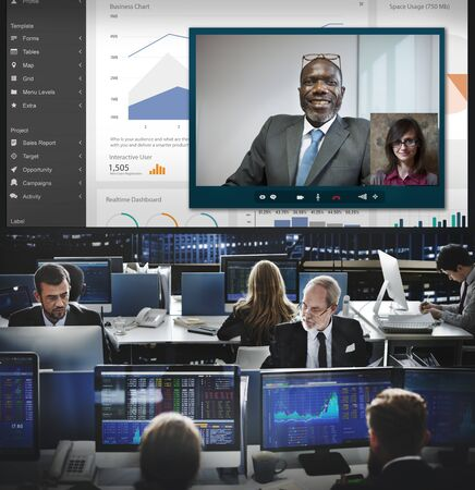 hectic: Video Call Chat Meeting Talking Concept