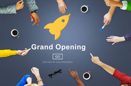 opening: Grand Opening Rocket Icon Concept