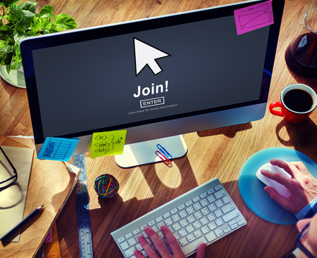 join: Join Register Enter Arrow Icon Concept