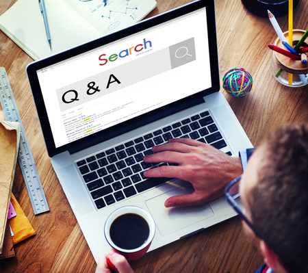 frequently asked question: Q&A Frequently Asked Question Information Concept Stock Photo