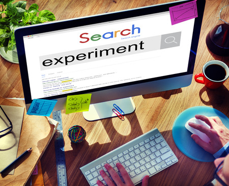 observation: Experiment Observation Examination Determine Concept Stock Photo