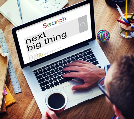 breaking new ground: Next Big Thing Creativity Trend Update Concept
