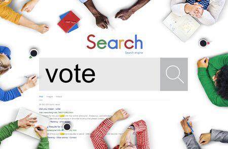 encuestando: Vote Voter Voting Polling Poll Decision Campaign Concept