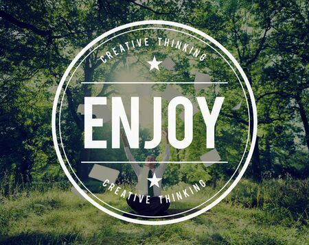 away from it all: Enjoy Enjoyment Appreciate Happiness Pleasure Concept