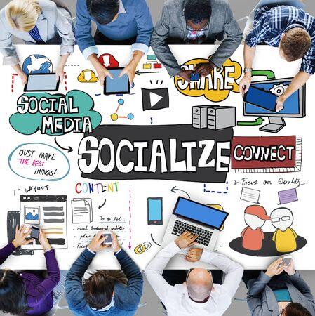 socialization: Socialize Community Connection Fellowship Group Concept