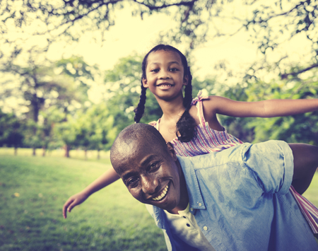 father daughter: African Family Happiness Holiday Vacation Activity Concept