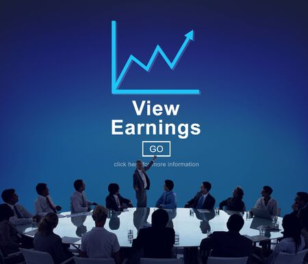 earnings: View Earnings Cash Economy Finance Income Concept Foto de archivo
