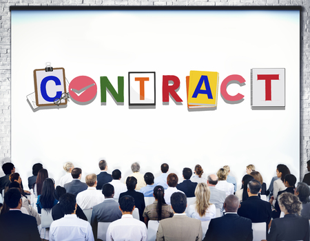 commitment: Contract Agreement Deal Commitment Covenant Concept