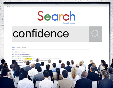 self assurance: Confidence Belief Reliability Conviction Concept Stock Photo