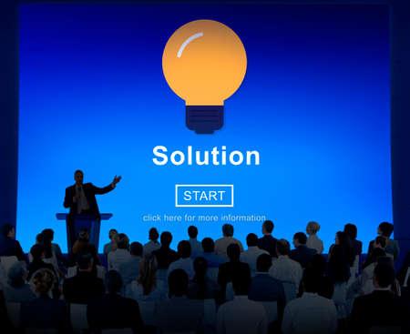 in problem: Solution Problem Solve Result Progress Concept Stock Photo