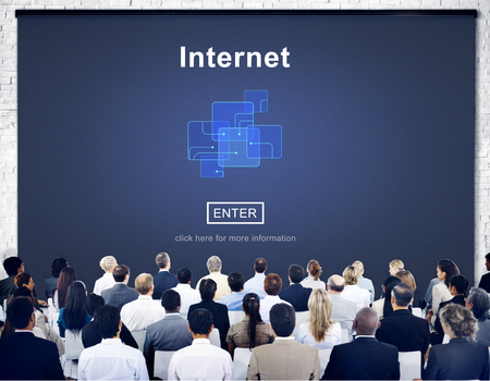 People with internet concept