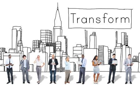 Transformation Transformation ändern Evolution-Konzept
