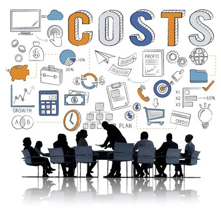 cost: Costs Finance Business Marketing Commerce Concept