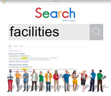 facilitate: Facilities Flair Potential Amenity Building Skill Space Concept Stock Photo