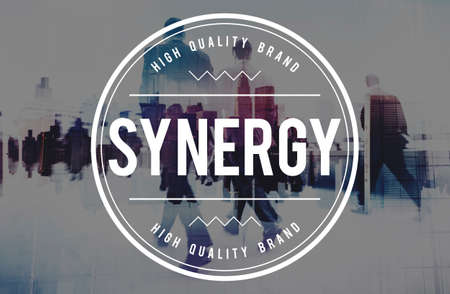 Synergy Teamwork Corporate Collaboration Cooperation Concept Stock Photo