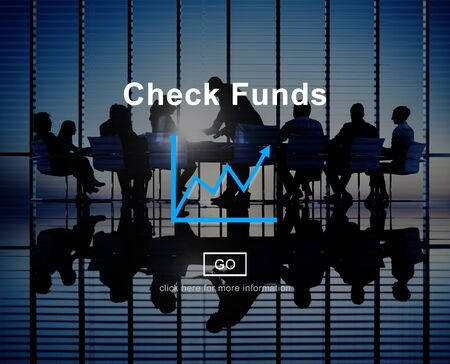 funds: Check Funds Progress Chart Interface Concept Stock Photo