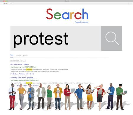complain: Protest Protesting Refuse Complain Complaint Concept