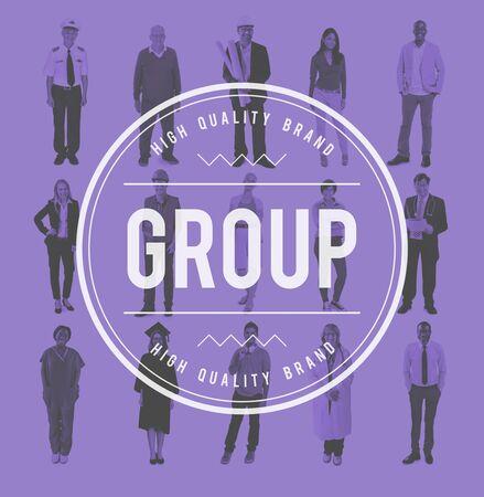 gang: Group Gang Unity Community Band Company Concept