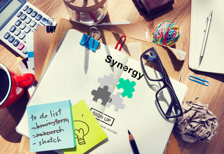 synergy: Synergy Teamwork Better Together Collaboration Concept