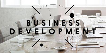 Organisation de développement des entreprises Stratégie Concept