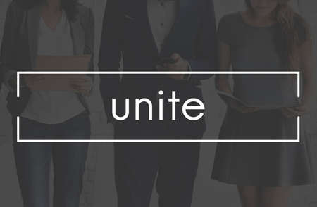unite: Unite Unity Connection Cooperation Partnership Collaboration Concept Stock Photo