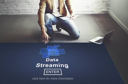 web servers: Data Streaming Online Web Media Concept