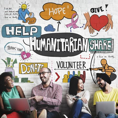 humanitarian: Humanitarian Kindness Unconditioned Hope Give Concept