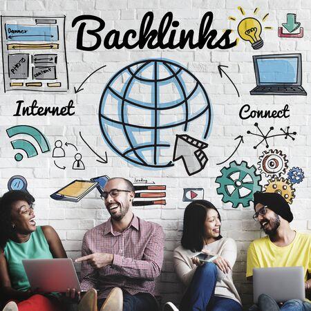 backlinks: Backlinks Technology Online Web Concept Stock Photo