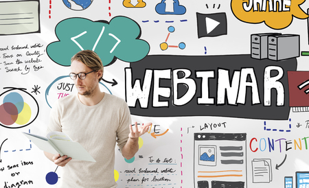 webinar: Webinar Web Seminar Technology Online Concept