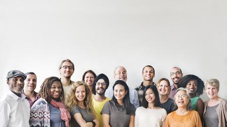 Verschiedenartigkeits-Leute-Gruppen-Team Union Concept Standard-Bild