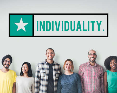 distinction: Individuality Character Independence Different Distinction Concept Stock Photo