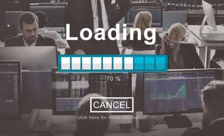businessman waiting call: Loading Progress Indicator Interface Concept