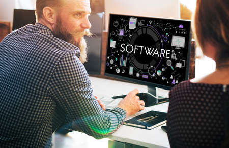 hardware: Software Computer Technology Data Hardware Concept Stock Photo