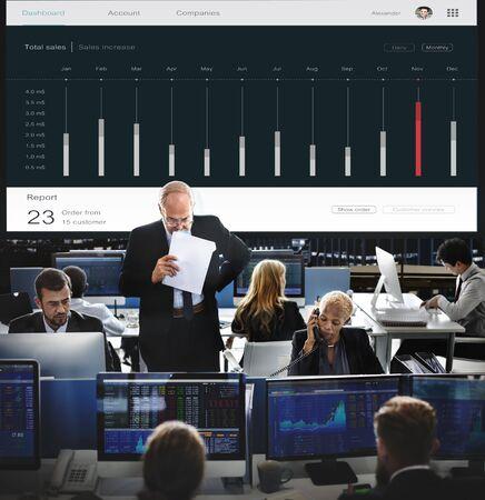 dashboard: Customer Marketing Sales Dashboard Graphics Concept
