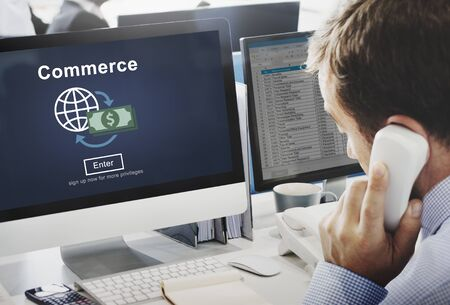 consumerism: Commerce Exchange Buy Shopping Consumerism Concept Stock Photo