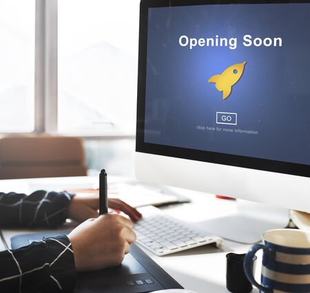 commence: Opening Soon Launch Welcome Advertising Commercial Concept
