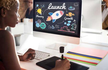 empezar: Launch Start up New Business Begin Concept