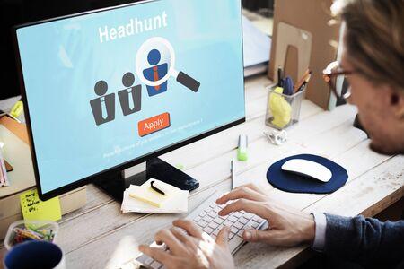 Headhunten Recruitment Scouting inhuren Employment Concept Stockfoto