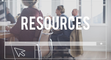 business resources: Resources Management Manpower Business Career Concept
