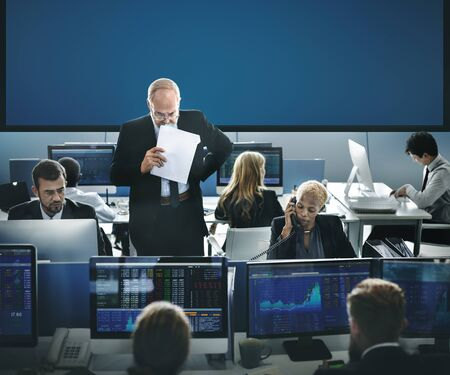 people on computers: Business Team Investment Entrepreneur Trading Concept